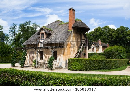 Dovecote in Marie-Antoinette s estate  Versailles Chateau  France - stock photo