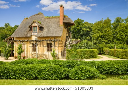 Dovecote in Marie-Antoinette's estate. Versailles Chateau. France - stock photo