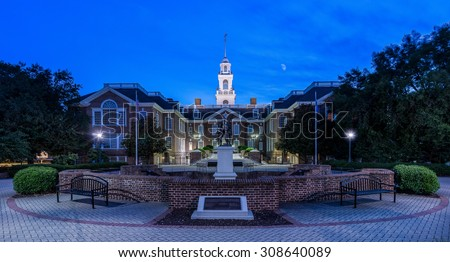DOVER, DELAWARE - JULY 19: Delaware Legislative Hall on July 19, 2015 in Dover, Delaware - stock photo