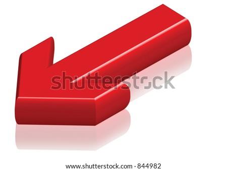 DOWN arrow - stock photo