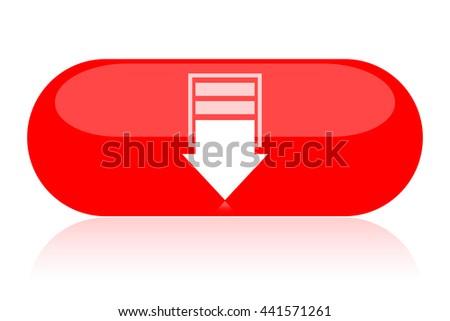 Down button - stock photo