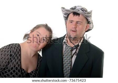 down syndrome love - stock photo