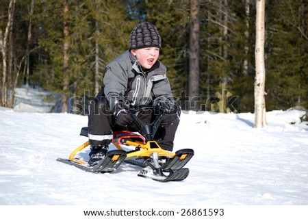 Down the hill it goes - stock photo