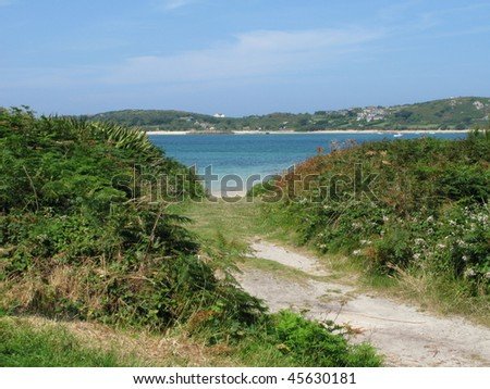 Down to the beach - stock photo