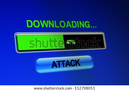 Download attack - stock photo