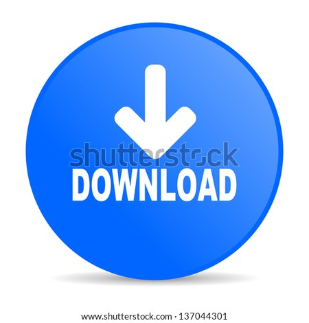 download blue circle web glossy icon