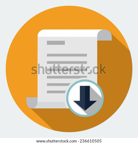 Download icon - stock photo