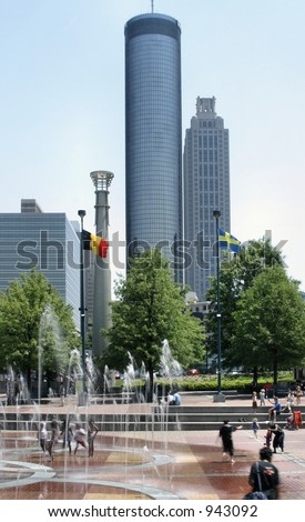 Downtown Atlanta Georgia - stock photo