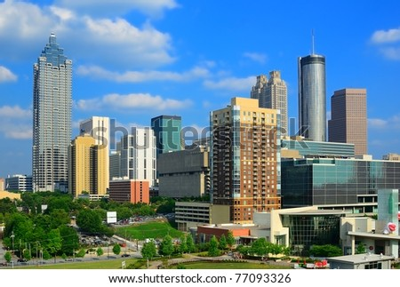 Downtown Atlanta, Georgia, skyline - stock photo
