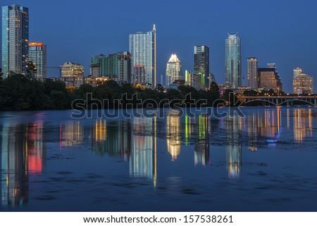 Downtown Austin Texas - stock photo