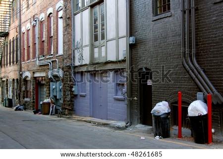Downtown backstreet - stock photo