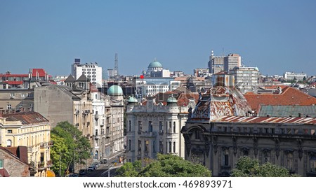 Downtown Belgrade Capital City of Serbia