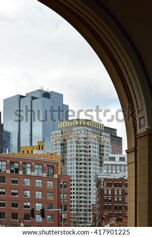 Downtown Boston - stock photo