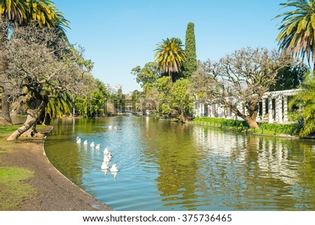 Downtown Buenos Aires parks in the Palermo neighborhood known as Palermo Woods - stock photo