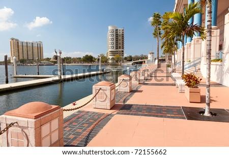 Downtown Business District, Tampa, Florida - stock photo