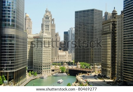 Downtown Chicago, Illinois - stock photo