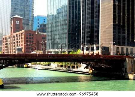 Downtown Chicago, Illinois USA - stock photo
