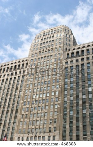 Downtown Chicago Merchandise Mart - stock photo