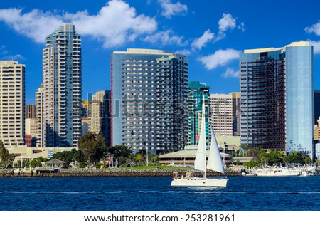 Downtown City of San Diego, California USA  - stock photo