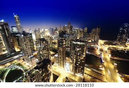 Downtown City View - stock photo