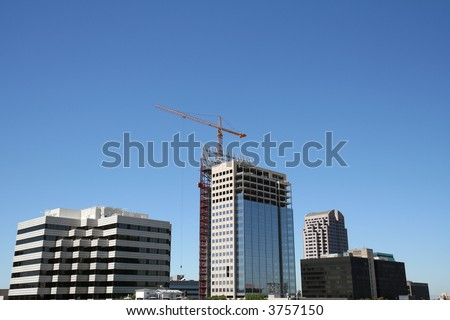 Downtown Construction - stock photo