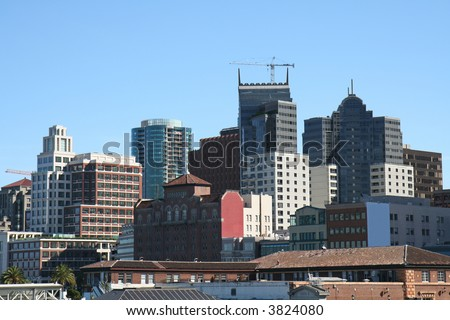 Downtown Density - stock photo