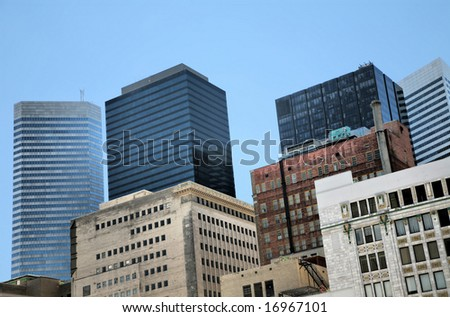 Downtown Houston(Release Information: Editorial Use Only. Use of this image in advertising or for promotional purposes is prohibited.) - stock photo