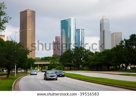 Downtown Houston Texas - stock photo