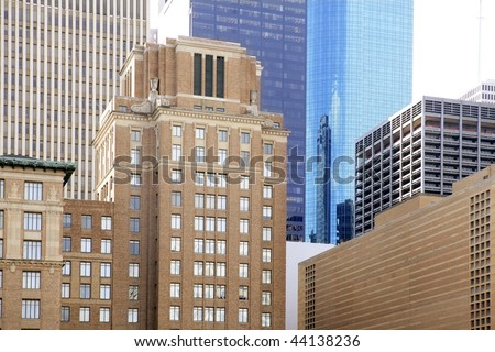 Downtown Houston Texas buildings urban city skyscrapers - stock photo