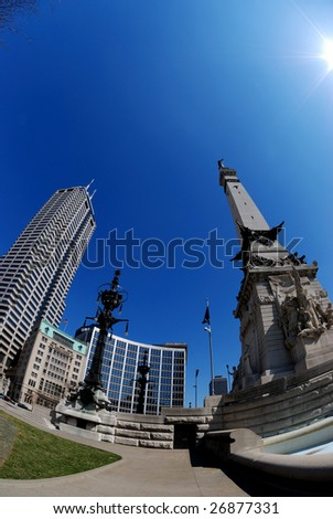downtown Indianapolis - stock photo