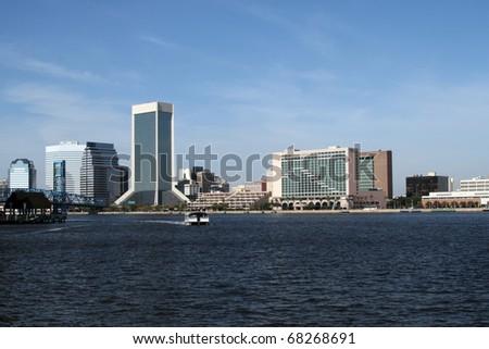 Downtown Jacksonville, Florida Skyline - stock photo