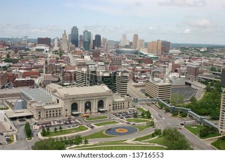 Downtown Kansas City - stock photo