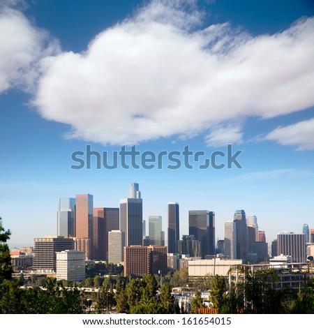 Downtown LA Los Angeles skyline cityscape California - stock photo