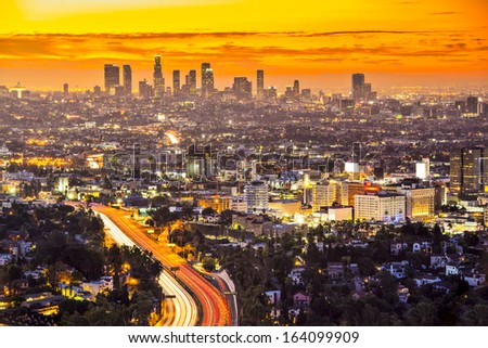 Downtown Los Angeles, California. - stock photo