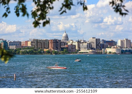 Downtown Madison, Wisconsin - stock photo