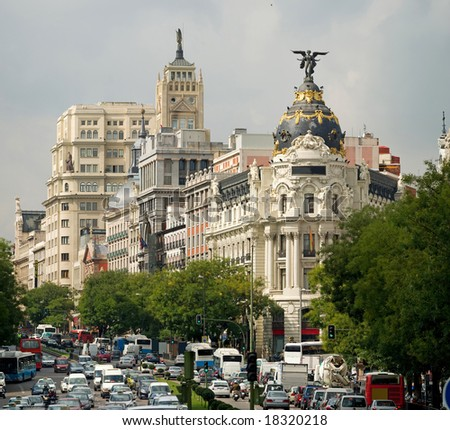 Downtown Madrid - stock photo