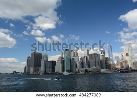 Downtown Manhattan and New York Harbor