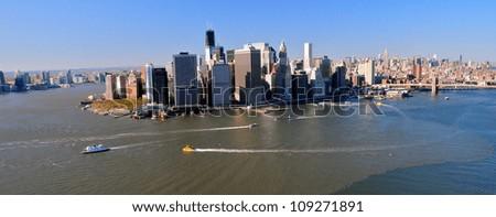 Downtown Manhattan, New York - stock photo