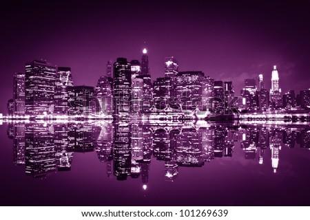Downtown Manhattan, New York City - stock photo