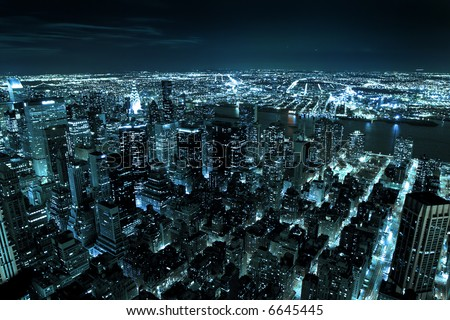 Downtown Manhattan - New York city - United states of America - stock photo