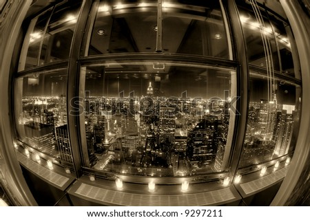 Downtown Manhattan - New York city - United states of America - stock photo