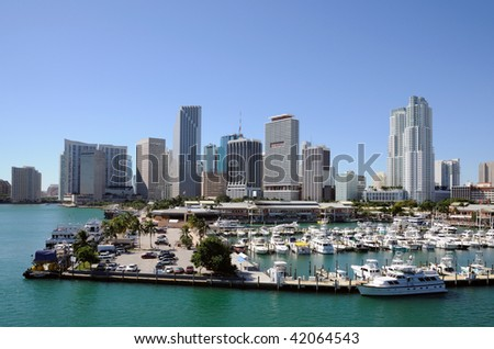 Downtown Miami, Florida USA - stock photo