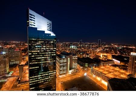 Downtown Minneapolis - stock photo