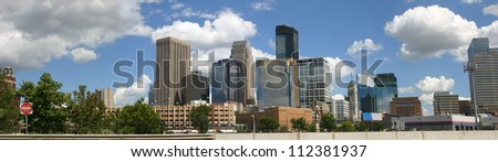 Downtown Minneapolis viewed from the northwest