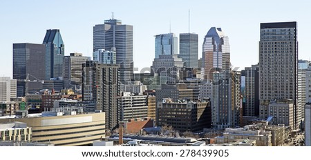 Downtown montreal - stock photo