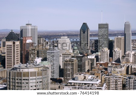 Downtown Montreal Canada, higher lookout
