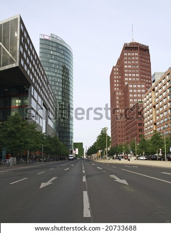 Downtown of Berlin - stock photo