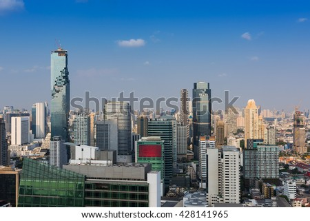 Downtown of business of Thailand. - stock photo