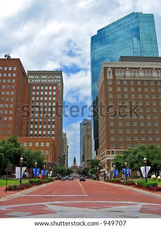 Downtown of Fort Worth, Texas - stock photo