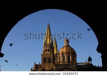 Downtown of Guadalajara, Jalisco, Mexico. - stock photo